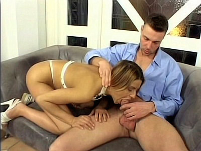 Throat Fucked Blonde